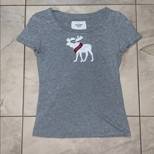 Gray tee with shirt sleeves